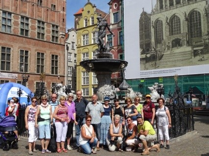 Am Neptunbrunnen in Danzig